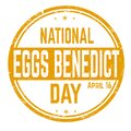 Eggs benedict day stamp Royalty Free Stock Photo