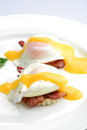 Eggs Benedict- toasted English muffins Royalty Free Stock Photo