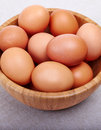 Eggs in bowl Royalty Free Stock Photo