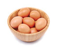 Eggs in bowl Royalty Free Stock Image