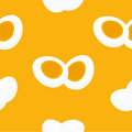 Eggs cartoon styled seamless pattern or background.