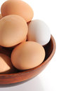 Eggs close up image of on white background Royalty Free Stock Photography