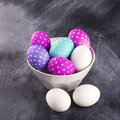 Eggs Decorated For Easter In A...