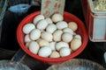 Eggs. Fresh eggs on a open market. Royalty Free Stock Photo