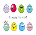 Eggs funny cartoon easter vector Stock Photos