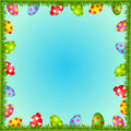 Eggs in grass. Easter card Royalty Free Stock Image