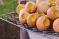 Eggs on the grill Royalty Free Stock Photo