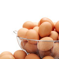 Eggs isolated on white background Royalty Free Stock Image