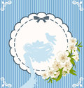 Eggs with lace ornaments and flowers Royalty Free Stock Images