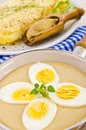 Eggs in mustard sauce Stock Photography