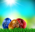 Eggs on natural background easter eps Stock Images