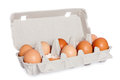 Eggs in the package isolated Stock Photo