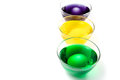 Eggs in paint cups easter Royalty Free Stock Photos