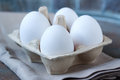 Eggs in pasteboard box Royalty Free Stock Photo