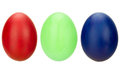 Eggs in rgb collection of three painted Royalty Free Stock Images