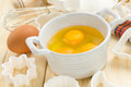 Eggs with sugar Royalty Free Stock Image