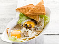 Eggs with truffle Royalty Free Stock Photo