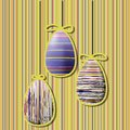 Eggs vintage background with easter vector illustration Royalty Free Stock Photo