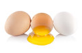 Eggs and yellow yolk Stock Photo