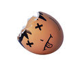 Eggshell brown with face paint on it Stock Photography
