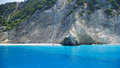 Egremni beach in Lefkada, Ionion sea, Greece Royalty Free Stock Images