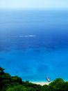 Egremni beach lefkada island summer boat ship Stock Photography