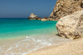 Egremni beach in lefkada photo taken greece Royalty Free Stock Photos