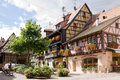 Eguisheim village in france in a sunny day is commune alsace since is included into the list of the most beautiful villages of Royalty Free Stock Image