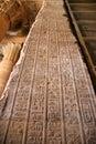 Egypt Edfu Hieroglyphics on Vertical Wall Royalty Free Stock Photo