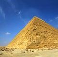 Egypt för forntida cheops berömd pyramid Royaltyfria Bilder