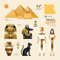 Egypt Flat Icons Design Travel Concept.Vector Royalty Free Stock Photo