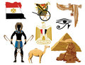 Egypt Icons Royalty Free Stock Photo