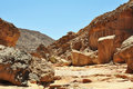Egypt the mountains of the sinai desert colored canyon Royalty Free Stock Image