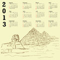 Egypt pyramid vintage 2013 calendar Stock Photography
