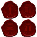 Egypt sealing wax stamp set Stock Photo