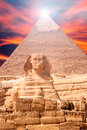 Egypt Sphinx Landscape Royalty Free Stock Photo