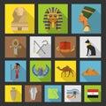 Egypt travel icon collection Royalty Free Stock Photo