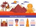 Egypt Travel Vector Illustration