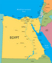 Egypt vector map Royalty Free Stock Photo
