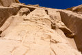 Egyptian ancient temple giant pharaohs Royalty Free Stock Photo