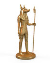 Egyptian anubis statue on white background d render Royalty Free Stock Photography