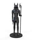 Egyptian anubis statue on white background d render Royalty Free Stock Photo