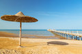 Egyptian beach at sunny day in hurghada Stock Images