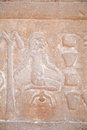 Egyptian carving woman giving birth Royalty Free Stock Photo