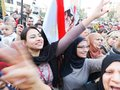 Egyptian christian and muslims share egyptian revolution loves general sisi the june that brought down the Stock Photo