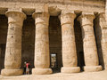 Egyptian columns Stock Photo