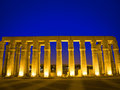 Egyptian columns at night Stock Image
