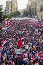 Egyptian demonstration against morsy alexandria sidi gaber june Royalty Free Stock Photo