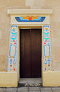 Egyptian entrance Royalty Free Stock Photos