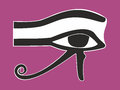 Egyptian eye horus ancient religious symbol vector illustration Stock Photos